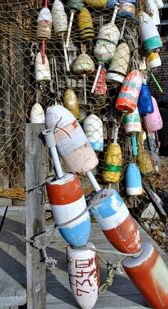 Lobster Buoys, Maine