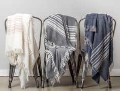 Striped Cashmere Throw by Parachute Home. http://www.parachutehome.com/products/striped-cashmere-throw