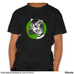 Cute zebra cartoon shirts
