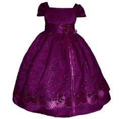 Amazon.com: SIZE 12 - Girl Holiday Dress Purple Satin (2 4 6 8 10 12): Clothing