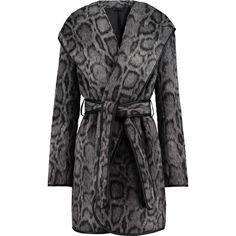 Diane von Furstenberg - Bergen Leopard-print Faux Fur Coat ($413) ❤ liked on Polyvore featuring outerwear, coats, grey, faux fur coat, leopard print faux fur coat, diane von furstenberg, gray coat and imitation fur coats