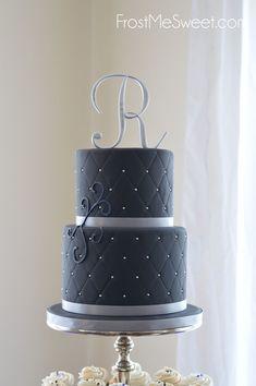 black wedding cake by Frost Me SWeet