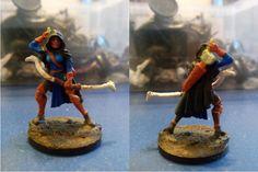De las primeras que pinte, la arquera Callie de Reaper Miniatures