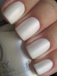 Orly - Au Champagne, love the white matte, looks like snow!