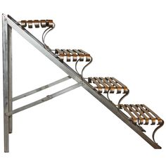 Shop ladders and other antique and vintage collectibles from the world's best furniture dealers. Retractable Stairs, Grill Gate Design, Antique Ladder, Loft Ideas, Ladders, Building Plans, Tiny Homes, Welding, Attic