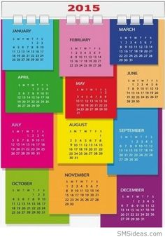 Happy New Year 2015 Colorful Calendar Wallpaper