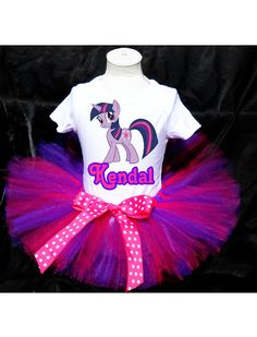 My Little Pony Twilight Tutu Birthday Outfit Costume Tutu and Top Included. $28.99, via Etsy.