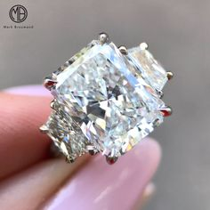 We couldn't be more thrilled with the way this incredible turned out. Congratulations to the beautiful couple. It was our pleasure to create this stunning piece for you to cherish forever. Radiant Cut Engagement Rings, Best Engagement Rings, Beautiful Rings, Beautiful Couple, Ring Designs, Diamond Jewelry, Diamond Rings, Fine Jewelry, Wedding Rings