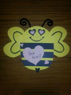 Valentine Bee.  Adapted from another pin. #Art