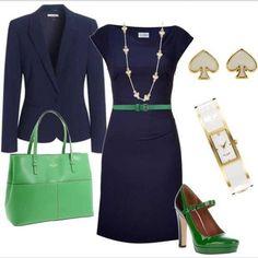 Green & Navy Blue