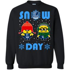 65be932e883 Minion Memphis Grizzlies Ugly Christmas Sweaters Snow Day Snowflake  Sweatshirts Delaware State