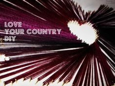 DIY Love your Country Fadenbild / thread on MDF Board -simple !