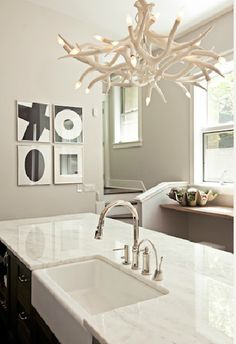 i'm in love with the idea of WHITE countertops...