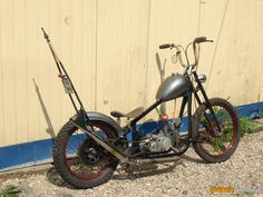 Custom Motorcycles, Custom Bikes, Cars And Motorcycles, Scooter Motorcycle, 50cc, Mopeds, Scooters, Bobber, Spider