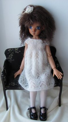"""Image detail for -Hand Knit Doll Outfit Set for 18"""" Kaye Wiggs Nyssa BJD Miki   eBay"""