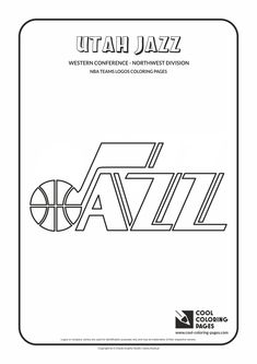 Cool Coloring Pages   NBA Basketball Clubs Logos   Western Conference    Northwest Division / Utah