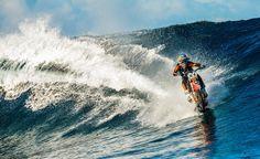 Robbie Maddison Pipe Dream Surf Big Wave Tahiti Dirt bike Motocross Stunt