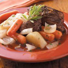 Garlic Pot Roast Recipe