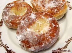 """Krapfen a la ,,Suzi"""" Czech Recipes, Ethnic Recipes, Donuts, Doughnut, Baked Potato, Hamburger, Rum, Bread, Meals"""