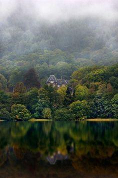 At Loch Achray, Scotland.