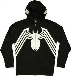 Venom Costume Applique Hoodie