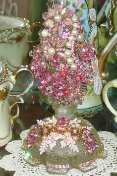 Bejeweled Vintage Perfume Bottle From The Vanity Collection By Debbie Del Rosario-Weiss!!!