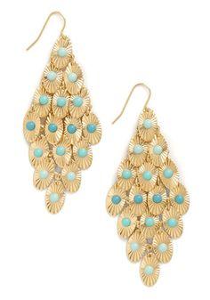 Dew Drop By #Earrings #jewelry #turquoise