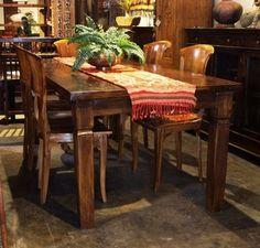 Reclaimed Teak Dining Table   Gado Gado