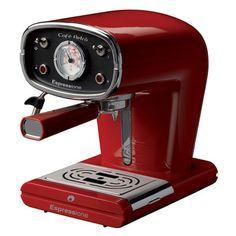 This is so cool!  Café Retro Espresso Maker Red, $278, now featured on Fab.