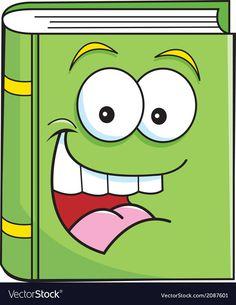 Cartoon Smiling Book vector image on VectorStock Cartoon Drawings, Cute Drawings, Police Officer Crafts, Nametags For Kids, Book Clip Art, School Cartoon, Disney Background, School Clipart, Dibujos Cute