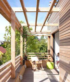 일석삼조의 옥상 파고라를 설치한 친환경주택 - Daum 부동산 커뮤니티