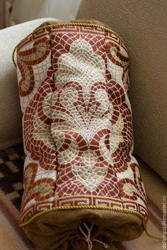 Купить Подушка пакетница - золотой, пакетница, подушка, подарок, предмет интерьера, ручная работа