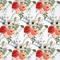 Set of flower and pattern by Vera Holera on Creative Market