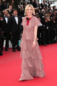 Sienna Miller in Gucci. See all the looks from the Cannes Film Festival.