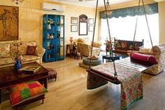 An Indian woman I took a cooking class from had a swing like this in her living room in Yangon. Awesome idea.