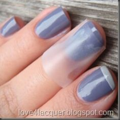 Use tape to do a french manicure