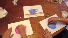 How to draw a Mug of Hot Chocolate with a Chalk Pastel Painterly Effect