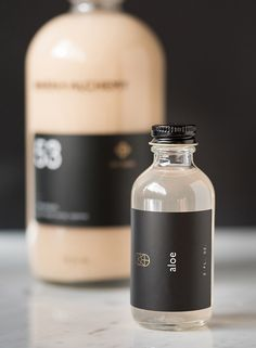 Owen + Alchemy  // Cool packaging with systematic labels for juices and foods!