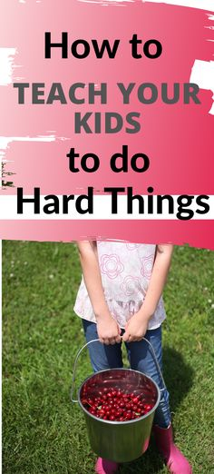 Teaching your children to bear up and be strong when something is tough can be done.  Here are some tips!