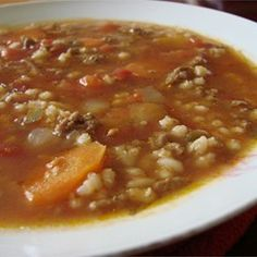 Hearty Hamburger Soup - Allrecipes.com