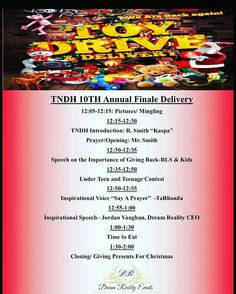 """@Regrann from @toyzndahood16 - [TNDH2016] #Finale #Atlanta Delivery  You are cordially invited to """"TNDH Atlanta 18th Annual Finale Delivery"""" """"Toyzndahood""""  12/24/2016 CHRISTMAS Eve  Martin Street Church Of God 148 Glenwood Rd Atlanta Ga 30312 Time: 12p-3p """"#SummerHill Community""""  This event is Powered By #DreamRealityEvents TEEN #Entrepreneurs  Because my present this year was to start the #legacy. #YouthGiving2Youth is @truesneakernation is taking over #Toyzndahood 2016 [Drops the Mic]#MMV…"""
