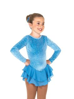 Skating Dress Competition Dress Neon Green Smooth Velvet Size 10-12 Ice Skating Winter Sports