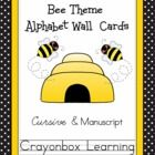 This delightful set includes 2 complete sets of alphabet word wall cards.  One set features a manuscript / print font, and one set includes a cursi...