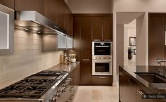 Light Brown Glass Subway Backsplash Tile Cabinet Dark Brown Granite Countertop