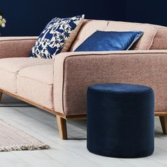 Tokyo Stool in Navy.  Freshen up your current lounge room or bedroom with our new decorative stools. These vibrant pieces truly enhance your space and help you create an on-trend look that showcases your unique style in any space.