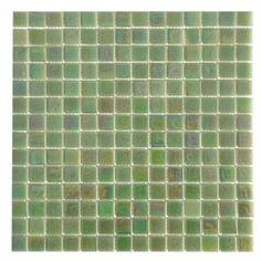 American Olean Bijou De Verre Glass - BV27 Mint Green - 3/4 X 3/4 Gass Tile Mosaic - Iridescent