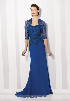 Cameron Blake 216682 Blue Mother Of The Bride Dress