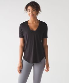 Love Tee III black US4 This tee was designed for working out, going out, and everywhere in between.
