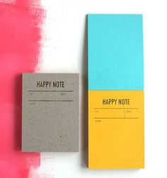 colorful note card pads by Tokketok