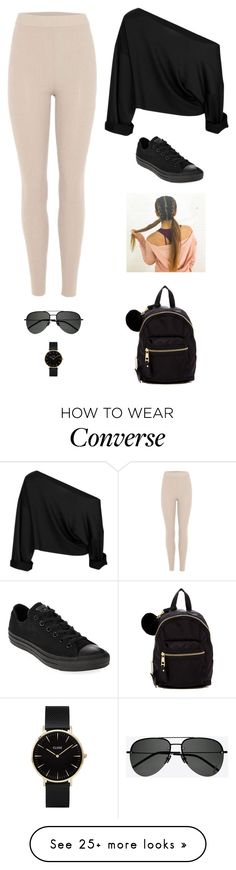 """""""Untitled #3534"""" by twerkinonmaz on Polyvore featuring adidas Originals, Converse, Madden Girl, Yves Saint Laurent and CLUSE"""